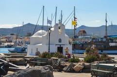 Aegina-Hafen in Aegina-Insel, Griechenland am 19. Juni 2017 Stockfotos