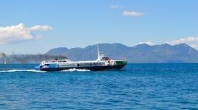 Aegina-Hafen in Aegina-Insel, Griechenland am 19. Juni 2017 Lizenzfreie Stockfotografie