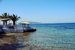 Aegina-Insel auf Palmen Athens Griechenland Lizenzfreies Stockbild