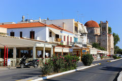 Aegina Island. AUG. 15 2014 town of Aegina island - Greece islands Stock Photography