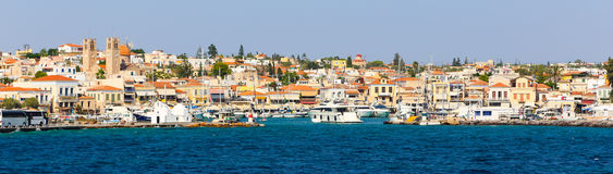 Aegina Island - Greece. AUG. 15 2014 - Yachts in port of Aegina island - Greece islands Stock Images