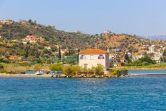 Aegina Island - Greece. Panorama of Aegina Greece Island Stock Photos