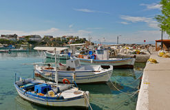Aegina island. Picturesque greek port aegina island Royalty Free Stock Photography