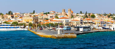 Aegina island. View of the capital of Aegina island in Greece Royalty Free Stock Image