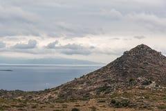 Aegina krajobraz, Grecja obraz royalty free