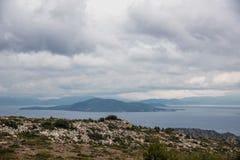 Aegina krajobraz, Grecja obrazy royalty free