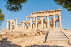 Aegina ruiny Zdjęcie Royalty Free