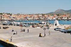 Aegina-Stadthafen, Griechenland Stockfotografie