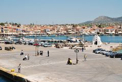 Aegina Town harbour, Greece Stock Photography
