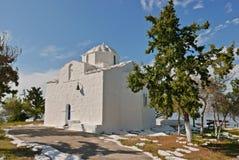 Aegina-Weißkirche Stockfotografie