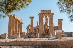 Aeginaruïnes royalty-vrije stock afbeeldingen
