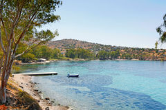 Aeginitissa in Aegina, Griechenland Lizenzfreies Stockfoto