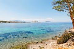 Aeginitissa in Aegina, Griechenland Stockfotografie