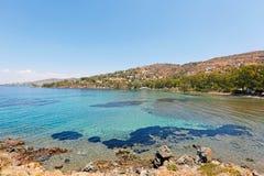 Aeginitissa in Aegina, Griechenland Stockbild