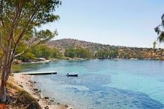 Aeginitissa en Aegina, Grecia Foto de archivo libre de regalías