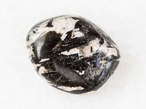 aegirine crystals in polished microcline stone royalty free stock photos