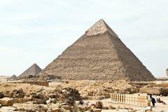 Aegypteb, Giza, Chephrenpyramide Fotos de archivo