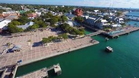 Aeiral Mallory Square Key West 4k banque de vidéos