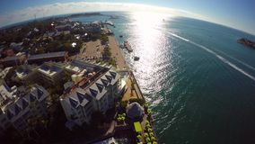 Aeiral Mallory Square Key West 4k stock video footage