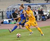 AEK Atenas - CONTIENDA Borisov Imagenes de archivo