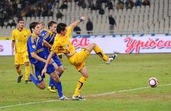 AEK Atenas - CONTIENDA Borisov Fotografía de archivo libre de regalías