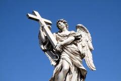 aelian天使安吉洛桥梁交叉ponte sant的罗马 库存图片