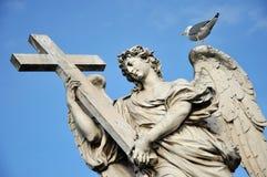aelian διαγώνιο ponte Ρώμη γεφυρών του Angelo αγγέλου sant Άγαλμα στο Ponte Sant Angelo, Ρ Στοκ Εικόνες