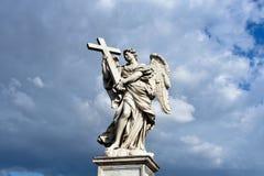 aelian διαγώνιο ponte Ρώμη γεφυρών του Angelo αγγέλου sant Γέφυρα Sant'Angelo Στοκ Φωτογραφία