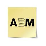AEM en plantilla pegajosa de la nota Imagen de archivo