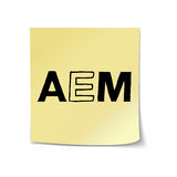 AEM On Sticky Note Template Stock Image