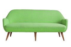 Aemchair verde con blanco aislado Imagen de archivo libre de regalías