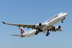 A7-AEN Qatar Airways Airbus A330-302 Fotografie Stock