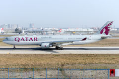 A7-AEN Qatar Airways, Airbus A330-302 Images libres de droits