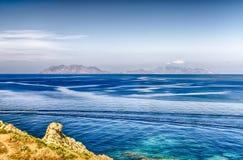 aeolian öar italy Arkivfoton