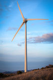 Aeolian energy. Typical windmill or aerogenerator of aeolian energy Royalty Free Stock Photo