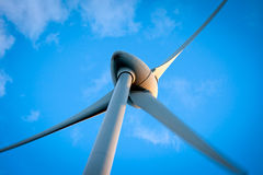 Aeolian energy. Typical windmill or aerogenerator of aeolian energy Stock Photo