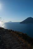 Aeolian islands from Lipari. Royalty Free Stock Photo