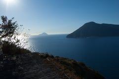 Aeolian islands from Lipari. Royalty Free Stock Photography