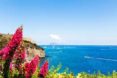 Aeolian Islands. Sicily, Italy. view of Stromboli volcano Stock Images
