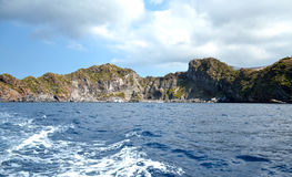 Aeolian islands - Sicily. Panorama of the Aeolian islands seen from the sea Stock Photos