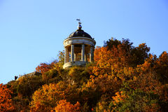 Aeolus竖琴在Autumntime Pyatigorsk地标和纪念碑 库存图片