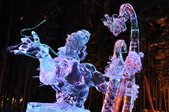 Aeolus Eis-Skulptur Stockfotos