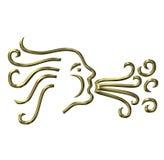 Aeolus the God of Wind Royalty Free Stock Image
