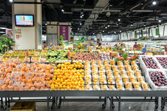 AEON supermarket interio. SHENZHEN, CHINA - MAY 06, 2015: AEON supermarket interior in ShenZhen. ShenZhen is regarded as one of the most successful Special royalty free stock photography