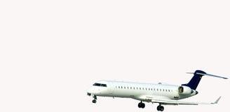 Aeorplane landing. Aeroplane landing during moderate wind royalty free stock image