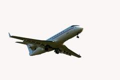 Aeorplane sur le ciel Photographie stock libre de droits