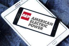 Aep, amerikanisches Logo des elektrischen Stroms Lizenzfreies Stockfoto