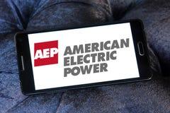 Aep, amerikanisches Logo des elektrischen Stroms Stockbild