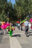 Aeróbicos del square dance de China Imagen de archivo libre de regalías