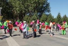 Aeróbicos del square dance de China Foto de archivo libre de regalías
